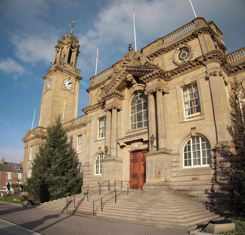 Download South Tyneside Town Hall stock image. Image of north, clock - 7248013