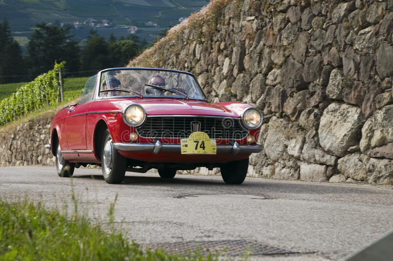South tyrol classic cars_2014_FIAT Spider 1500 Pinifarina stock image
