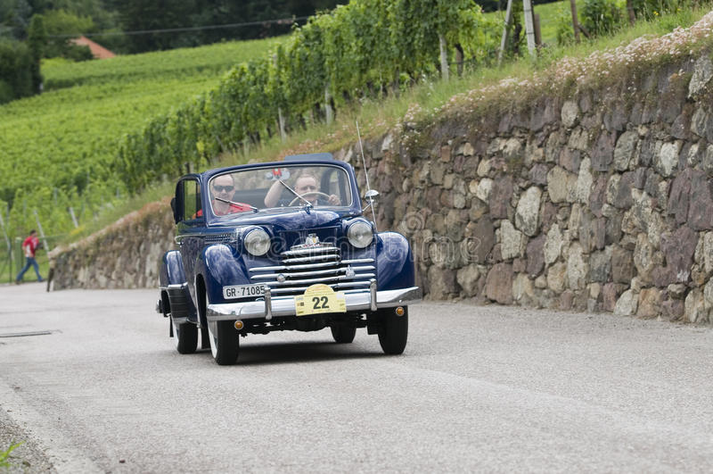 South tyrol classic cars_2014_Opel Olympia Cabriolett stock photos