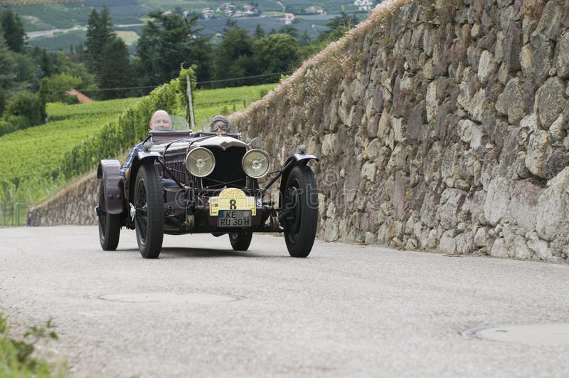 South tyrol classic cars_2014_Riley Ulster Imperial_1 royalty free stock image