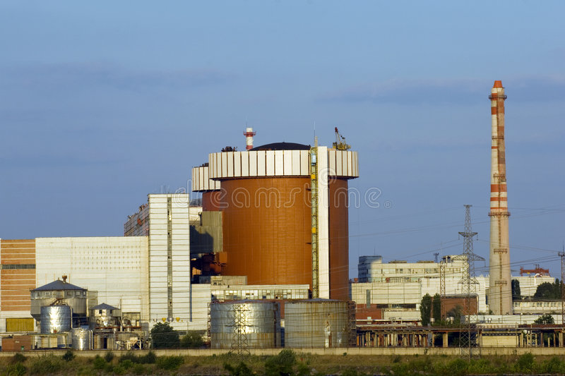 South Ukrainian nuclear power plant royalty free stock images