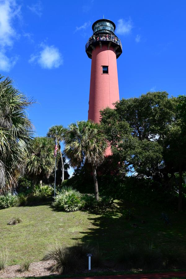 South View Jupiter Inlet Light stock images