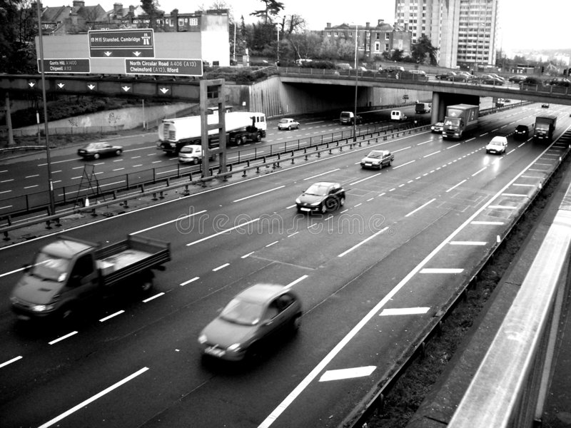 Download South woodford Motorway 2 stock photo. Image of cars, drive - 70784