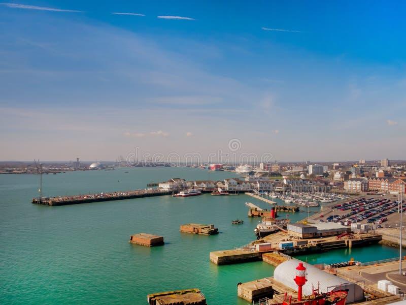 Southampton doki, Anglia, UK zdjęcie royalty free