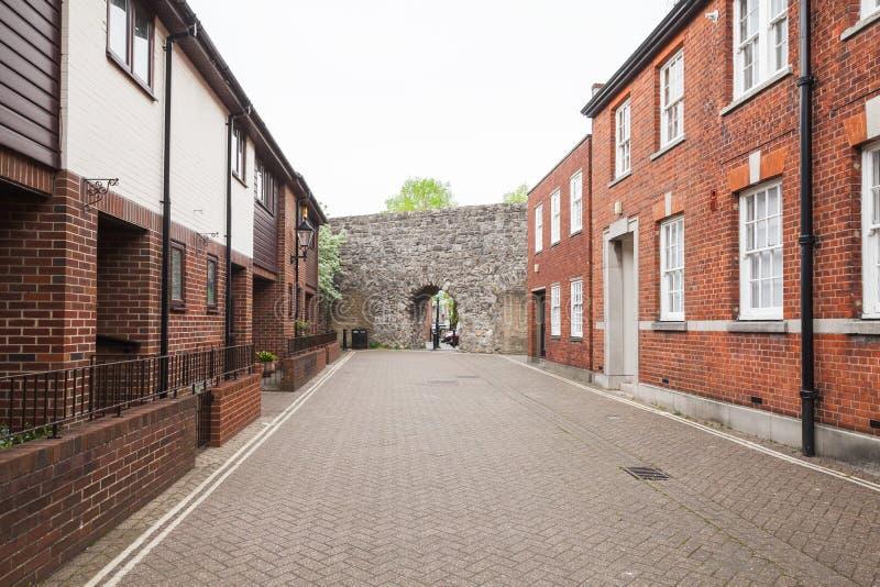 Southampton gatasikt, UK royaltyfria bilder