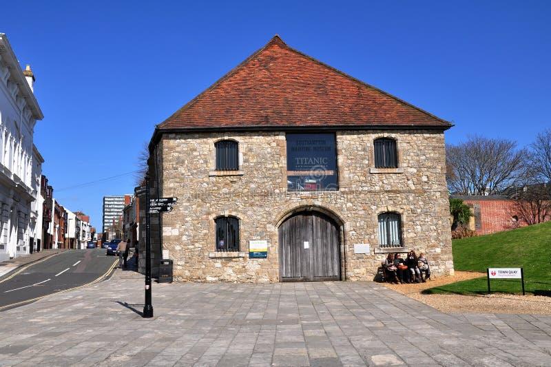 Southampton Maritime Museum, UK. Southampton Maritime Museum is situated in Town Quay, Southampton, Hampshire, United Kingdom. Southampton's Wool House was royalty free stock photo