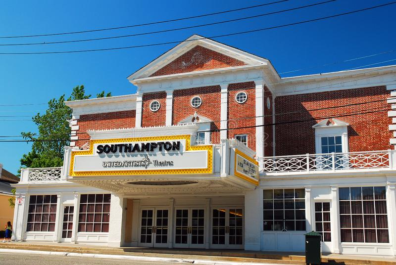 The Southampton movie theater. Remains in its historic building in the Hamptons, Long Island stock photo
