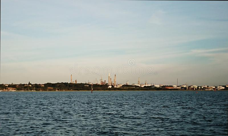 Esso petroleum refinery royalty free stock photo