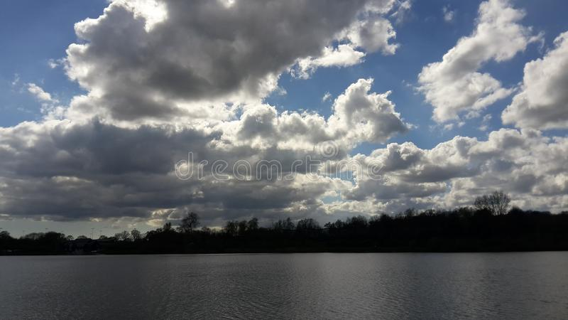 Southampton Skies. Blue skies and coulds in Southampton, England. Autumn royalty free stock photos