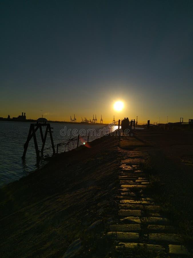 Southampton-Sonnenuntergang stockbilder