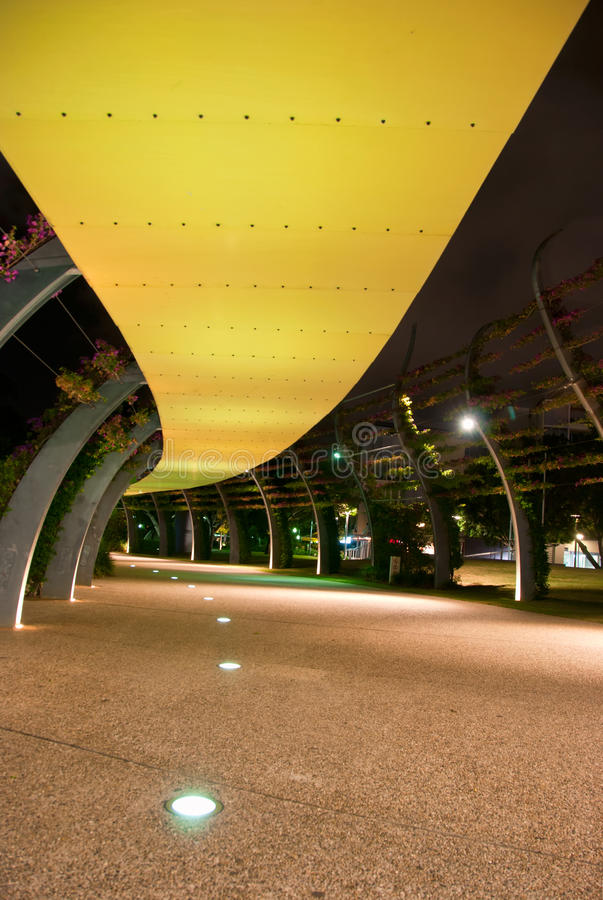 Southbank Brisbane la nuit, Queensland, Australie photos stock