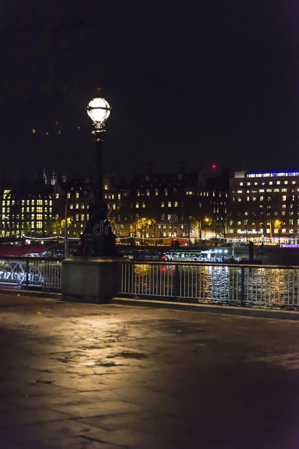 Southbank promenad, London, England, UK royaltyfria foton