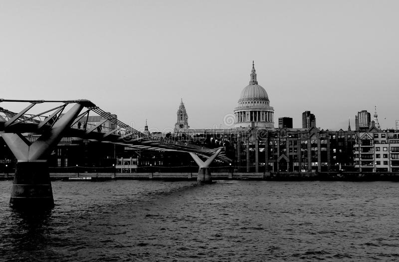 From the Southbank of the River Thames - London, UK stock photos