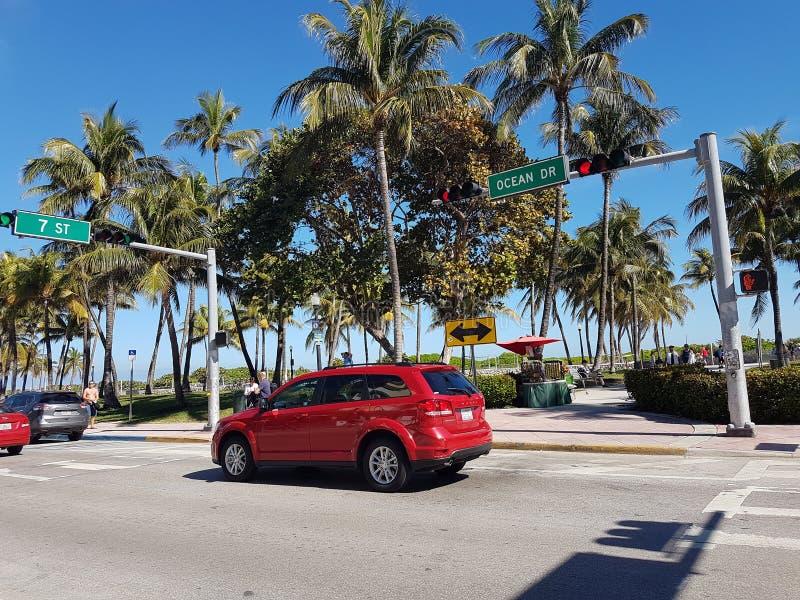 Southbeach. Miami ocean drive royalty free stock photos