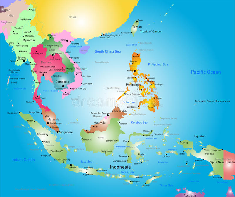 Asia Orientale Cartina Politica.Asia Map Stock Vector Illustration Of Illustration Clipart