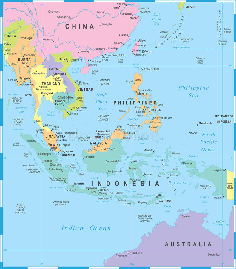 download southeast asia map vector illustration stock illustration illustration of indonesia city