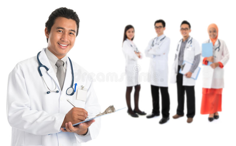 Southeast Asian doctors stock photography