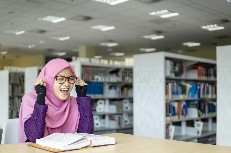 Southeast Asian Muslimah student stock photo