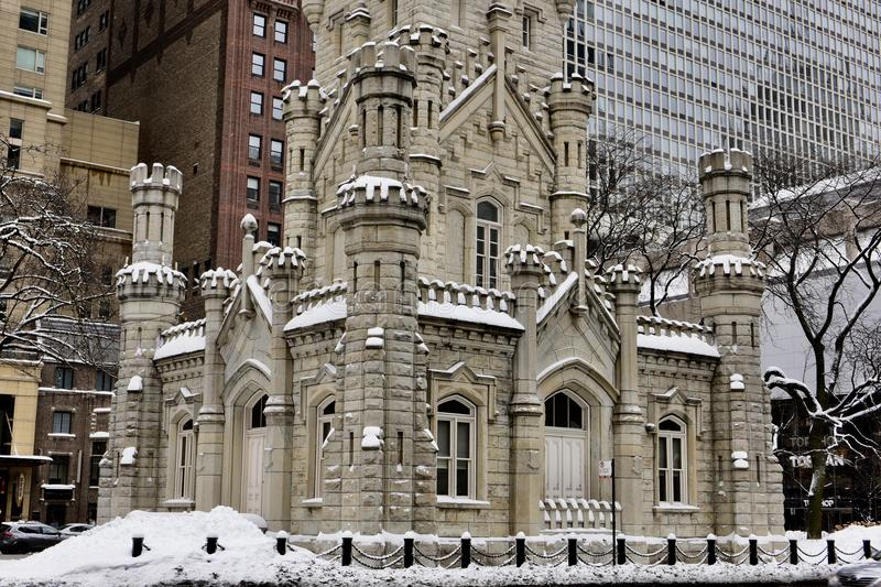 Southeast Corner View of the Chicago Water Tower royalty free stock image