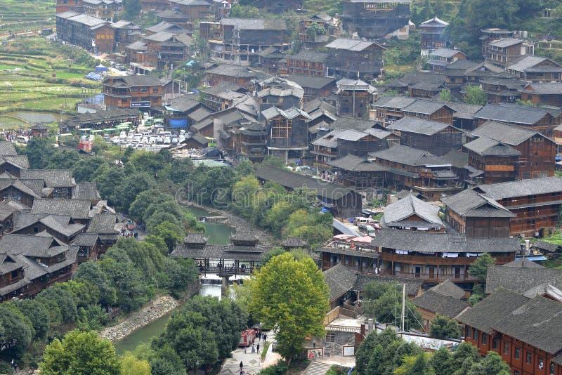 Southeast Guizhou Xijiang Miao Village. Photo Taken On: Dec. 5th, 2017 stock image