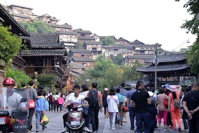 Southeast Guizhou Xijiang Miao Village. Photo Taken On: Dec. 5th, 2017 stock photos