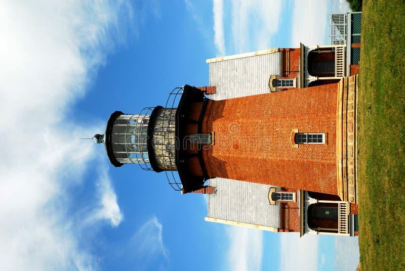 Southeast Lighthouse, Block Island. Beautiful view of the Southeast Light on Block Island, Rhode Island, USA royalty free stock photography