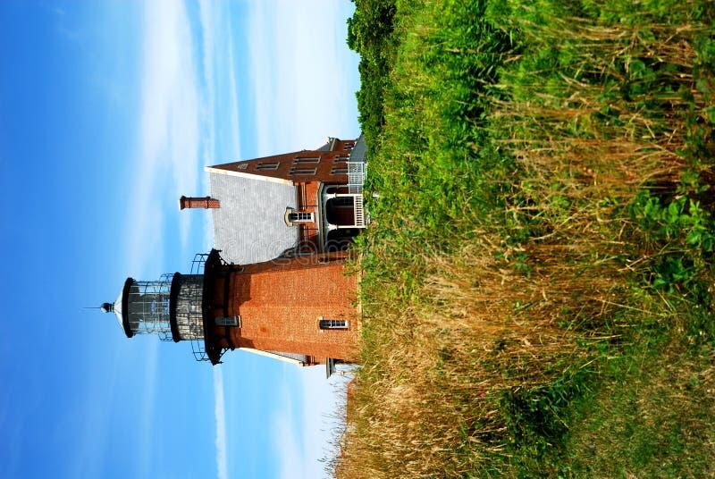 Southeast Lighthouse, Block Island. Historical Lighthouse, the Southeast Light, Block Island, RI stock photo