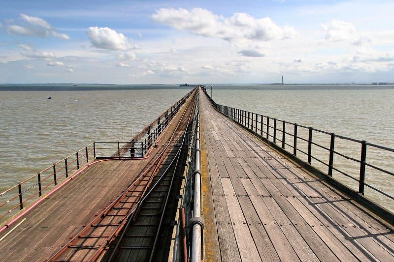 Southend en el mar, el embarcadero fotografía de archivo