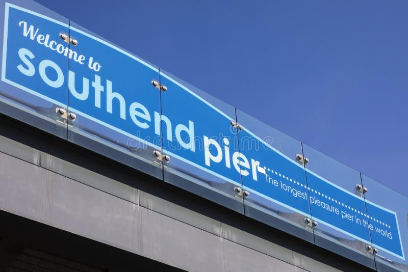 Southend-Pier in Essex lizenzfreie stockfotos