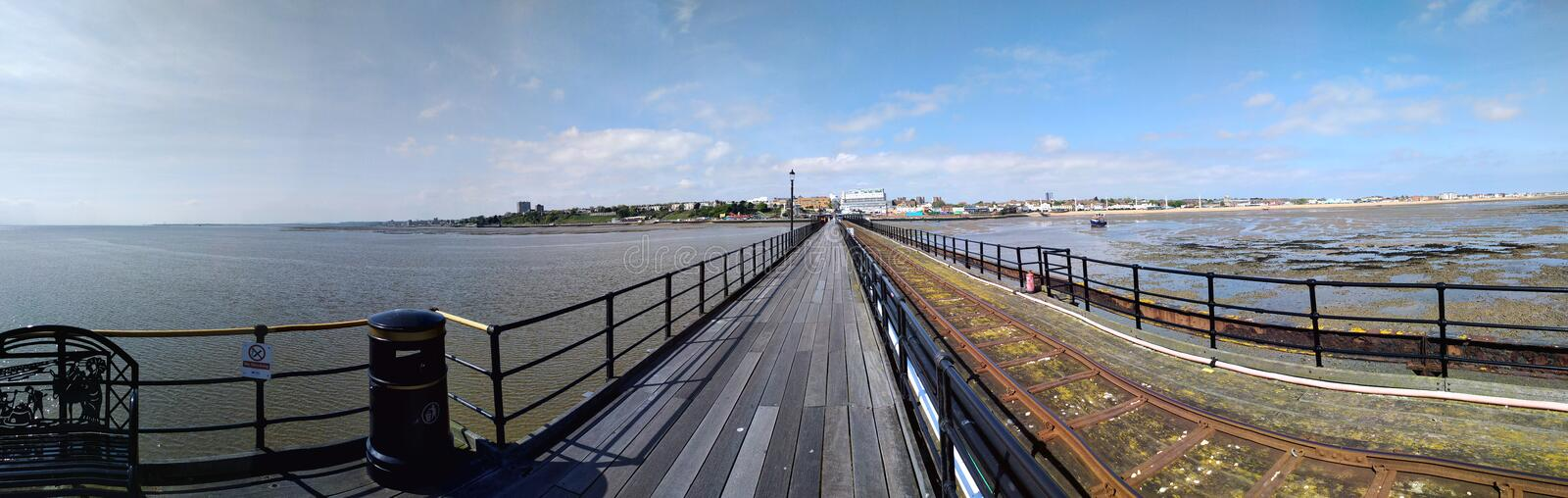 Southend Pier. A view from Southend Pier in Essex. england royalty free stock images