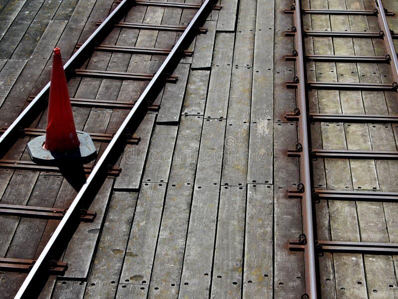 Southend pir, Essex, järnväg linje studie för pir royaltyfri foto