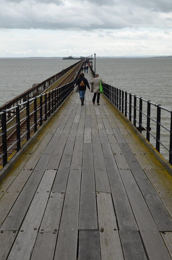 Southend pleasure pier. stock images