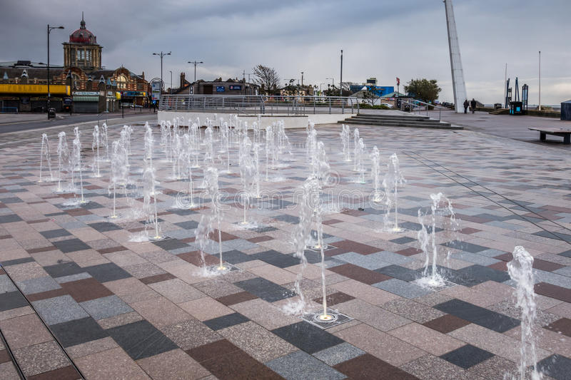 SOUTHEND ON SEA, ESSEX/UK - NOVEMBER 24 : Fountain on Southend s. Eafront in Essex on November 24, 2013 stock photos