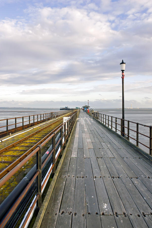 Southend-on-Sea Pier, Essex, England stock images