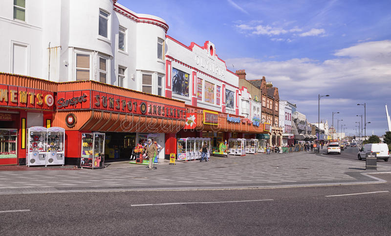 15/04/2016 - Southend on Sea sea front arcades royalty free stock photo