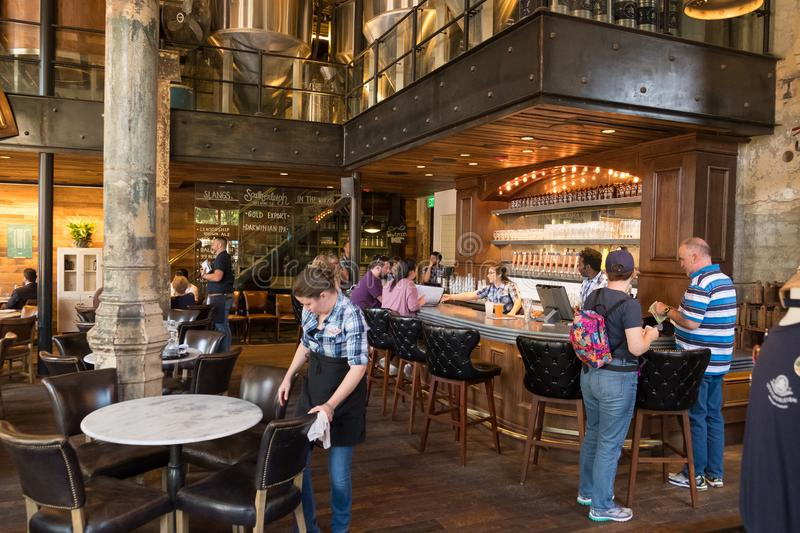 Southerleigh Brewing Company Beer. San Antonio, Texas - April 19, 2018: Craft beer served at Southerleigh, a brewery restaurant located in the Historic Pearl stock images