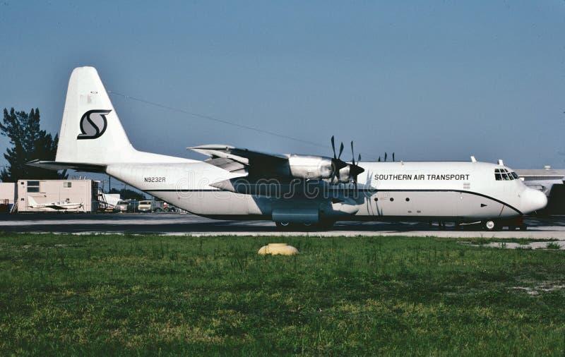 Southern Air Transport Lockheed L-100-30 nel 1985 immagini stock libere da diritti