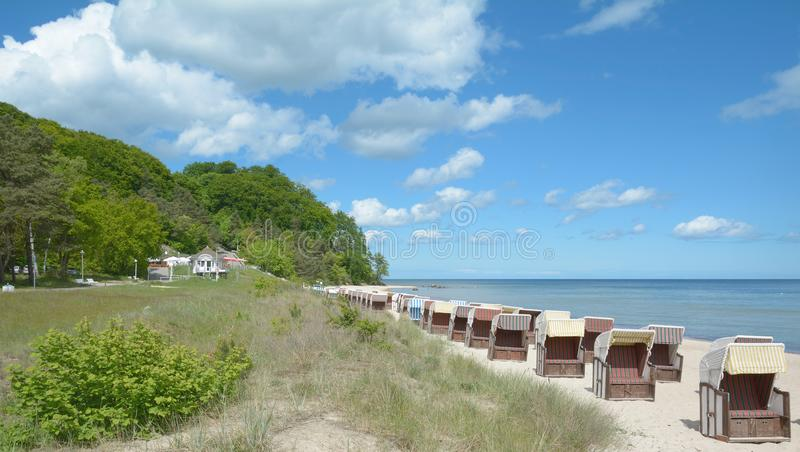 Southern Beach of Sellin,Ruegen,baltic Sea,Germany royalty free stock photography