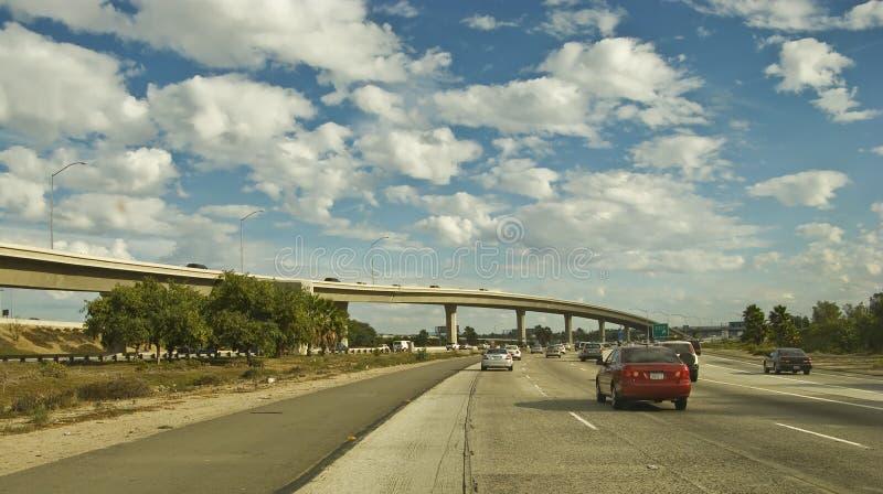 Southern California Freeway. In Orange County stock photos