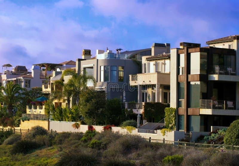 Southern california pacific ocean beach homes stock photo for Modern homes southern california