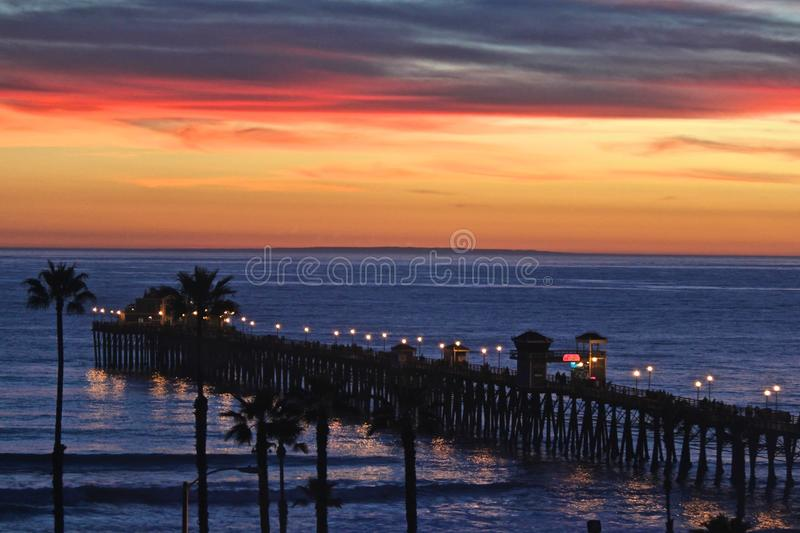 Southern California Pacific Ocean Pier royalty free stock image