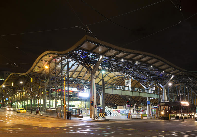 Southern cross rail station in melbourne australia. Southern cross rail station in central melbourne australia stock image