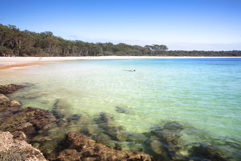 The Southern end of Green Patch Beach Australia royalty free stock image