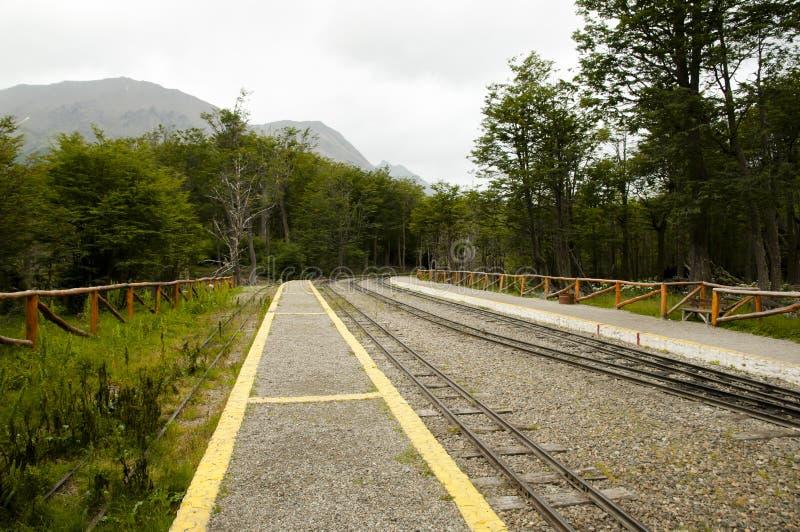 Southern Fuegian Heritage Railway - Tierra Del Fuego - Argentina stock images