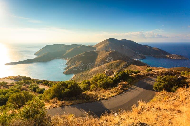 Greek coastline on Peloponnese, Mani Peninsula. Southern Greece Mani Peninsula. Sea landscape rocky coastline, Peloponnese royalty free stock photo