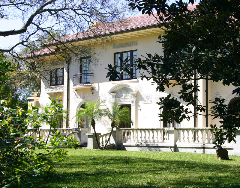 Southern Mansion stock image