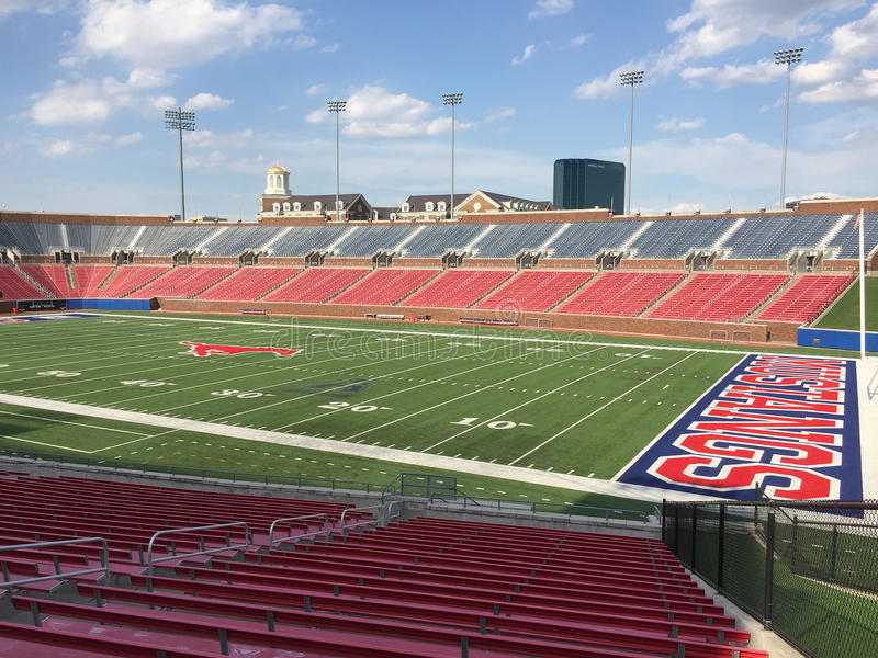 Southern Methodist university football stadium. Interior of Southern Methodist university football stadium city Dallas TX USA stock image