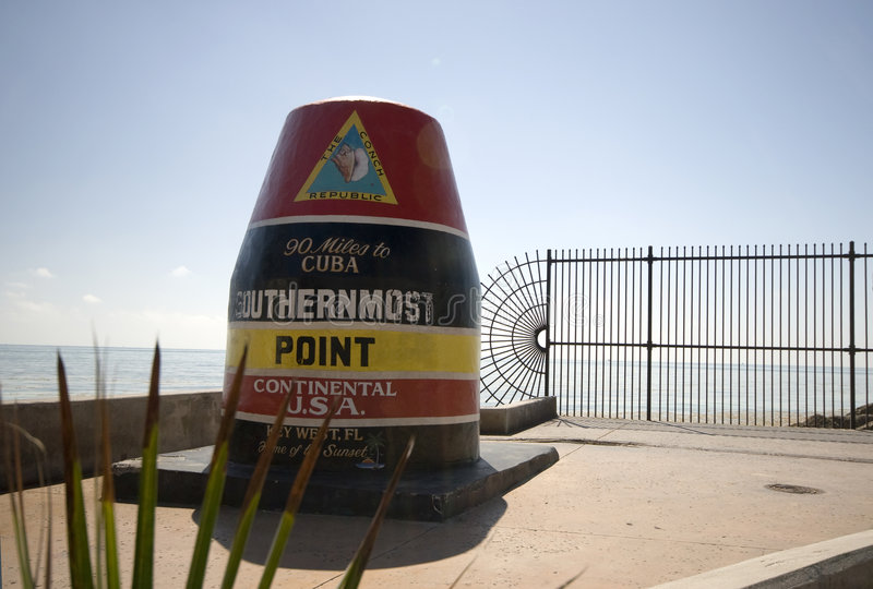 Southern most point in united states stock photo