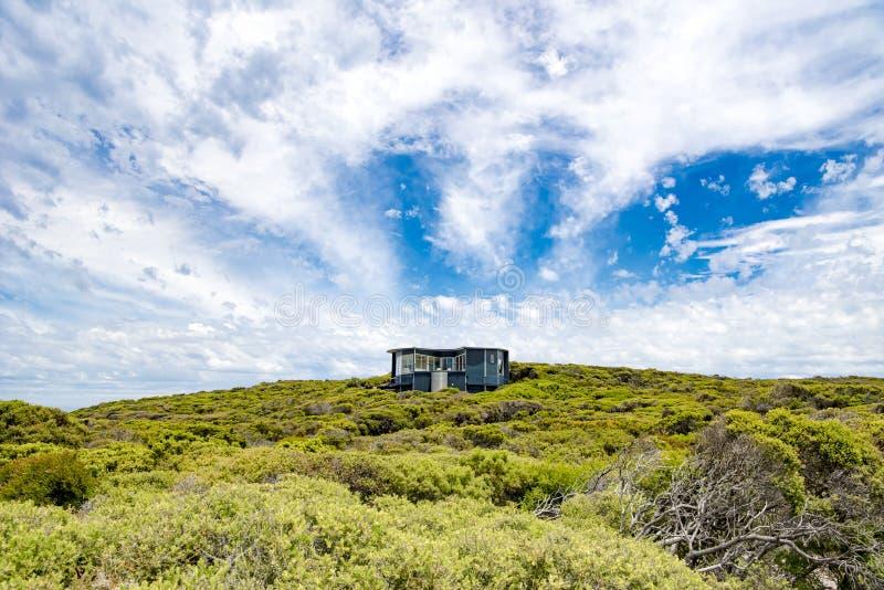 Suite of Southern Ocean Lodge, view over shrubs, Kangaroo Island, Australia stock image