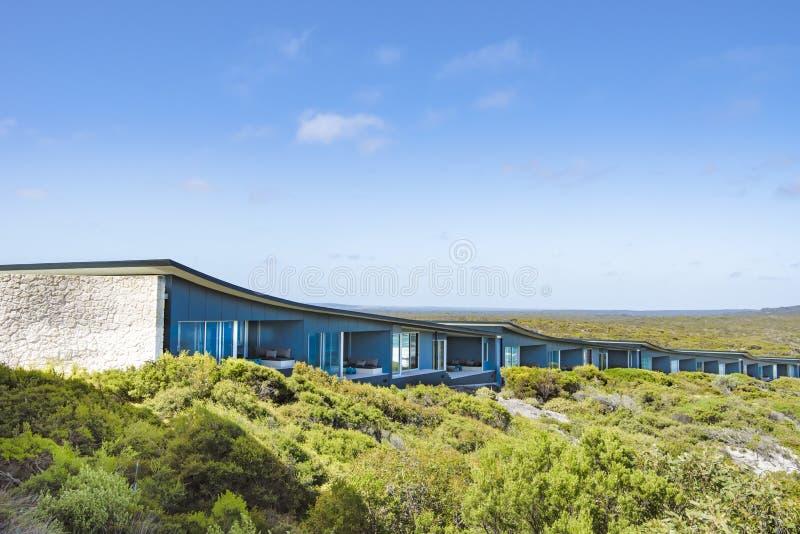 Suites of Southern Ocean Lodge, among scrubland, Kangaroo Island, Australia royalty free stock photos